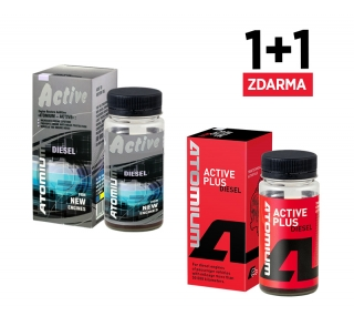 Atomium Active Diesel Plus 90 ml aditivum do oleje + Atomium Active Diesel Plus 90 ml